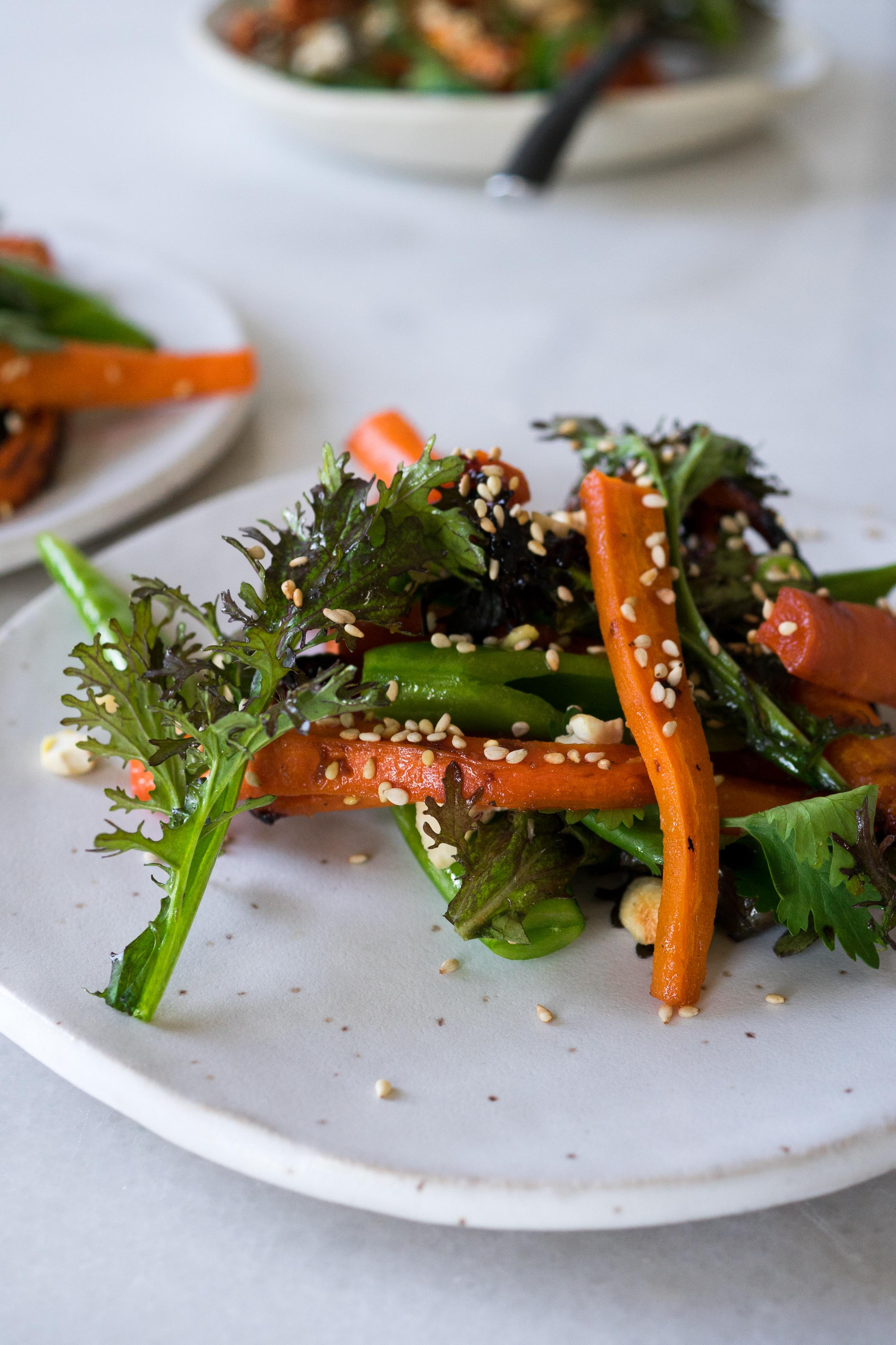 Miso Glazed Carrots | TENDING the TABLE