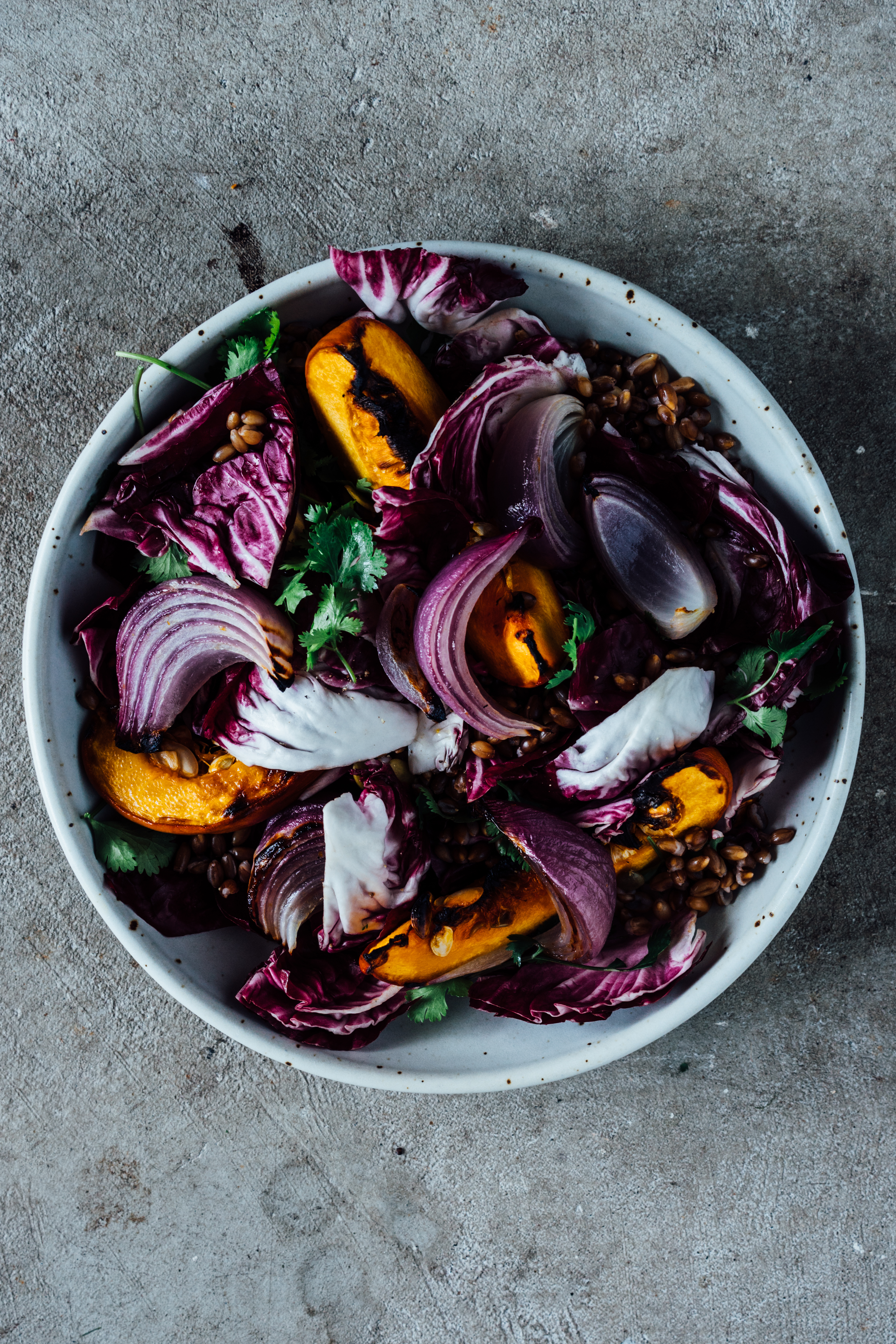 Roasted Pumpkin and Barley Salad | TENDING the TABLE