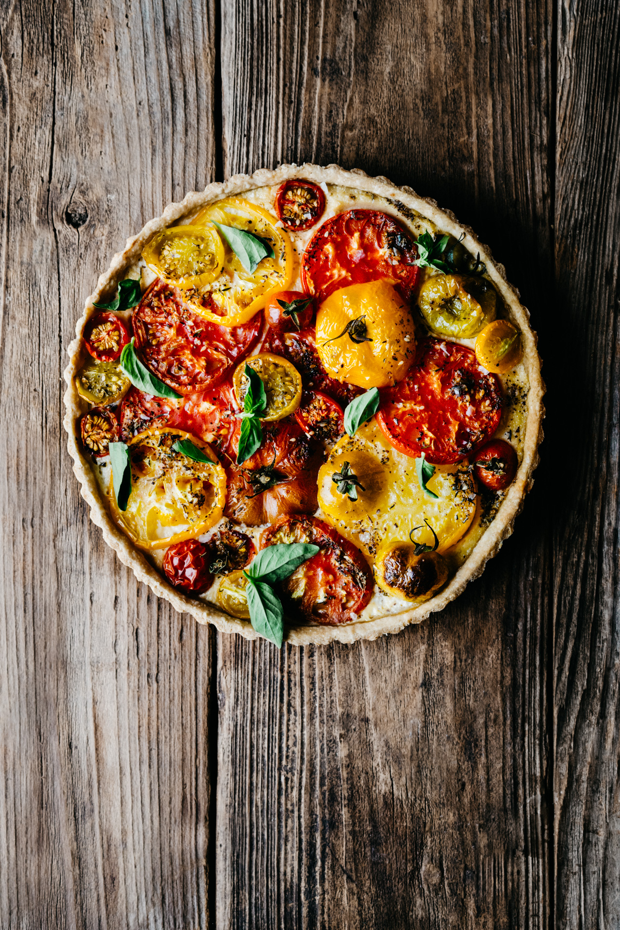 pretty nice 84a66 42cdd Heirloom Tomato Tart with Cashew Ricotta and Zaatar